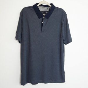 Adidas Blue Polo Short Sleeve Shirt EUC sz L